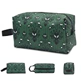Makeup Bag Cosmetic Toiletry Travel Bag Haunted Mansion Green Stripe Organizer Pouch for Women Men