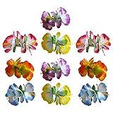 Tomaibaby Horquillas para El Pelo 10 Horquillas para El Cabello Hawaianas para La Fiesta de Playa de Luau Boda Fiesta de Cumpleaños de Carnaval Color Mezclado