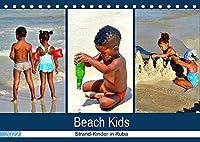 Beach Kids - Strand-Kinder in Kuba (Tischkalender 2022 DIN A5 quer): Kubanische Kinder beim Spielen im Sand (Monatskalender, 14 Seiten )