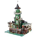 Oeasy Faro modular modelo de bloques de construcción, 3452 bloques de construcción para arquitectura de casas con minifiguras, compatible con tienda de pesca Lego Ideas 21310