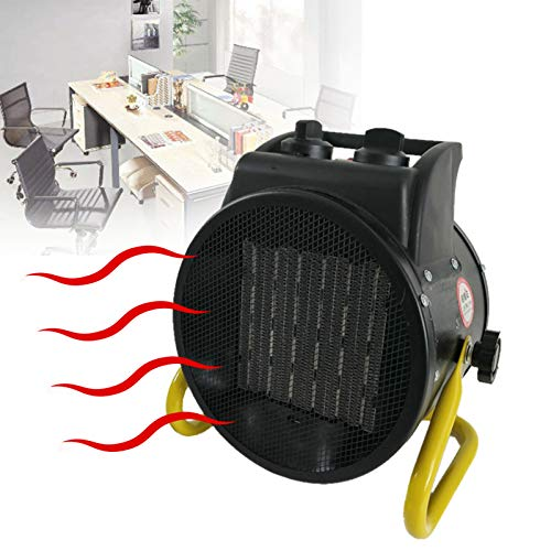 EnweLampi Ventilador Calefactor Industrial Profesional, PTC Calefacción De Portátil Cerámica con Protección contra Sobrecalentamientol para Garajes Grandes Espacios Interiores