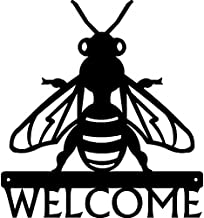 The Metal Peddler Honey Bee Welcome Sign - 12 inch Wide