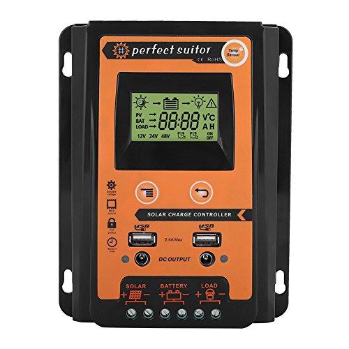 KIMISS premio 12v / 24v 30a50a mppt capo controllore pannello solare batteria solare doppio display lcd solare batteria regolatore usb(30A/12V)