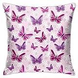 Moshow Fundas de Almohada Fundas de Cojines decoración Mariposas Multicolores Volando en el sofá Cama del Coche 45X45 CM