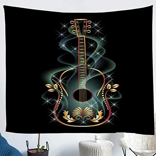 Manta de Pared con de Guitarra,,Musical,Colgar en la Pared, Instrumentos de Guitarra eléctrica de ensueño, Arte de Pared, hermosade habitación,tamaño Mediano 51 x 59 cm