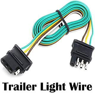 Seapon Trailer Light Wire, 5ft (1.5m) Wire Harness for Led Stop Turn Tail License Brake Running Light Lamp, Cable Wiring for Boat Trailer Truck Marine Camper Rv Cargo Taillight Tail Lights