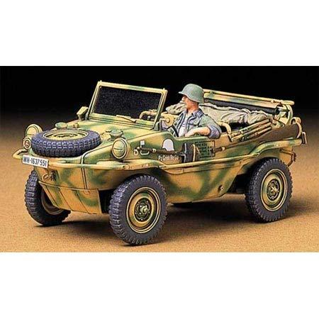 タミヤ 1/35 ミリタリーミニチュアシリーズ No.224 ドイツ陸軍 Pkw.K2s シュビムワーゲン166型 プラモデル ...