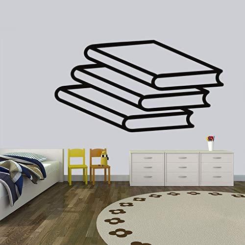 AGiuoo Nuevo Simple Triple Libro Etiqueta de la Pared calcomanía Estudio Pared habitación Moderna decoración de Arte Interior 78x42cm