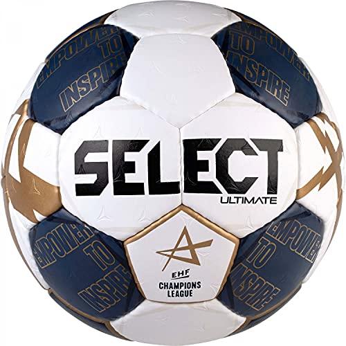Select Handball Ultimate Champions League v21 Weiss dunkelblau, Farbe:weiß/blau, Größe:3