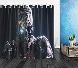 Horror Armored Superman Monster Duschvorhang Liner Badezimmer Matte wasserdicht LB