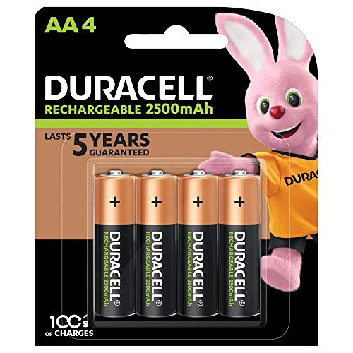 Duracell Rechargeable AA 2500 mAh Batteries Ideal for Xbox Controller,...