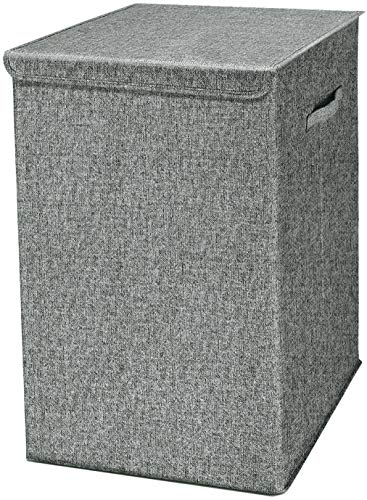 VETOKY 100L Super Large Laundry Hamper with Lid Waterproof Laundry Basket with Handle Mildewproof Foldable Laundry Baskets with Handles Easily Transport Clothes Grey