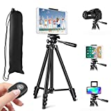 MOREVON Tripod for ipad, [2021 Upgrade] 53' Tripod for iPhone Camera Tablet, Lightweight...