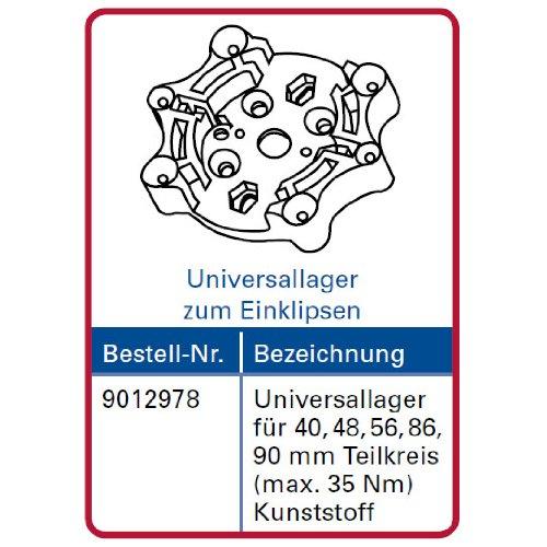 Simu Motorlager für T5 Rolladenmotor Teilkreis 40, 48, 56, 86, 90 mm Universallager