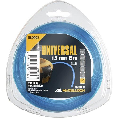 Universal Trimmerfaden Nylon 1.5mmx15m, NLO002: Ersatzfaden für Rasentrimmer, Länge 15 m, Faden-Ø 1.5 mm, reißfestes Nylon (Artikel-Nr. 00057-76.163.02)