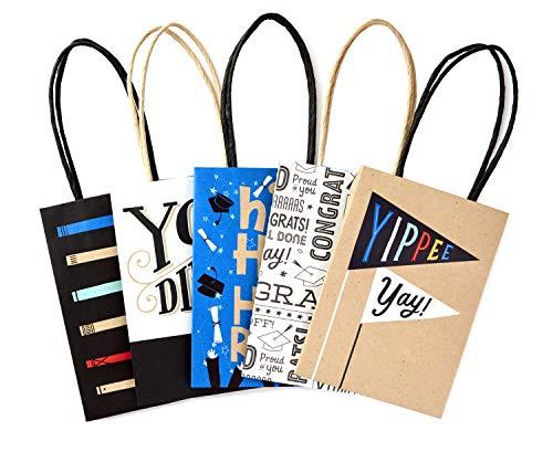 Hallmark Mini 5' Graduation Gift Bags Assortment (Pack of 5 Small Gift...