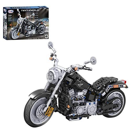 PARIO 709 piezas Custom Motorcycle Set Moto MOC Juego de construcción Moto de calle para minifiguras, juguete de construcción compatible con Lego