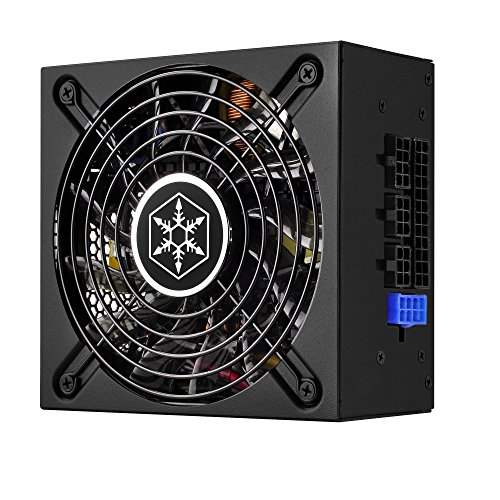 SilverStone Technology 500W SFX-L Form Factor 80 Plus Gold Full Modular Lengthened Power Supply with +12V Single Rail, Active PFC (SX500-LG)