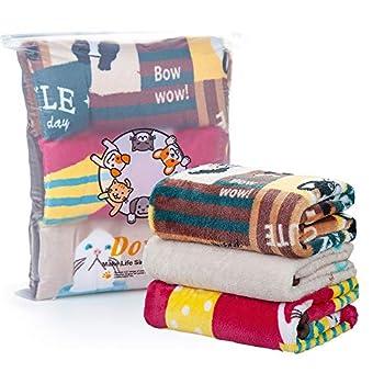 Dono Lot de 3 couvertures de couchage pour animal domestique - Doux et chaud - Lavable en polaire - Pour chiens de petite taille - 80 x 100 cm