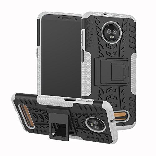 Capa para Moto Z3 Play, UZER à prova de choque, híbrida, camada dupla, de borracha robusta, híbrida, dura e macia, proteção contra impactos com suporte para Motorola Moto Z3 Play 2018