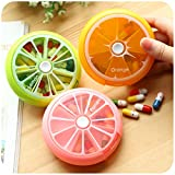 7Tage 21Slot Weekly Pill Box Medizin Tablet Halter Spender Halter Storage Orange&Lemon&Pomelo