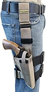 Barsony New Desert Sand Tactical Drop Leg Holster for 6