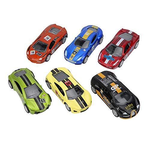 Juguete del coche, juguete del coche de los niños, niños del regalo 6pcs para los niños mayores de 3 años(Super Racing Pull Back Set)