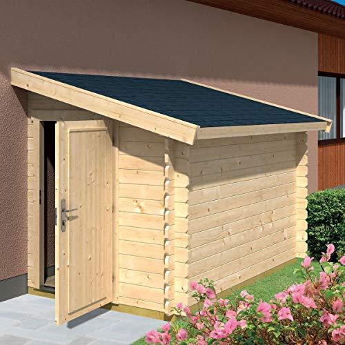 Casetta giardino ADDOSSATA a parete legno nordico GARTENPRO 159x218x188/148H
