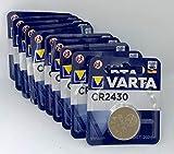 10x CR2430 Knopfzelle 3V Batterie Varta (10er Set)