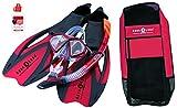 Aqualung Proflex X - Schnorchelset incl. Tasche + Original Scubapro Seadrops Maskenclear -