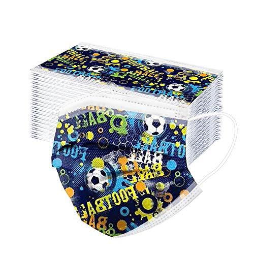 50/100PCs Kids Disposable Masks Boys Children's Face Masks Kids Disposable Masks for 4-12Years Boys Girls (Multicolor A, 50PCs)