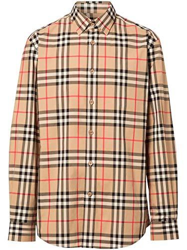 BURBERRY Luxury Fashion Herren 8020863 Beige Baumwolle Hemd | Frühling Sommer 20