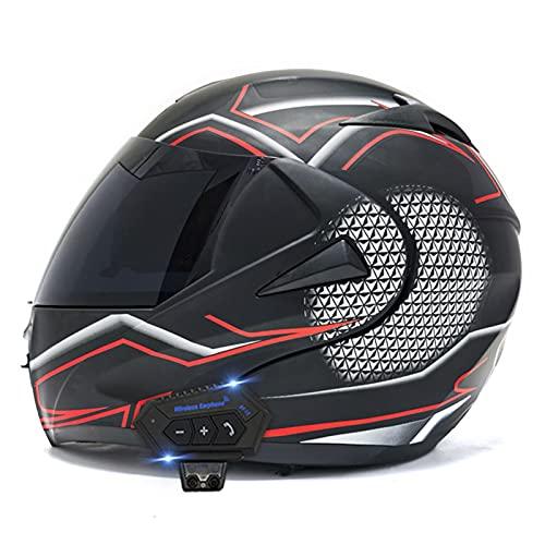 Casco de Motocross Scooter Chopper Casco,Casco de Motocicleta Integral,Casco de Motocicleta de Motocross para Adultos MX ATV Scooter,CertificacióN ECE,A,XL
