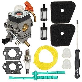 Hayskill C1Q-S174 Carburetor for Sthil FS87 FS90 FS100 FS110 FS130 HT100 HL100 HL90 HT101 KM90 KM100 KM110 Carb Trimmer Replace 4180 120 0604 4180-120-0611