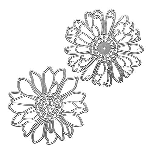 Metal Spring Die Cuts 2 Hollow Flowers Embossing Stencil Cutting Dies for Card Making Scrapbooking Paper Craft Album Stamps DIY Spring Decor