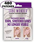 Lobe Wonder 480 Invisible Earring Ear-Lobe Support Patches - Provides Relief for Damaged, Streched Ear-Lobes and Helps Protect Healthy Ear Lobes Against Tearing
