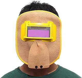 Leather Hood Welding Mask Solar Auto Darkening Filter Lens Slicing Helmet - Electrical Welding Tools Helmet Mask & Goggles-1 x Cattlehide welding mask