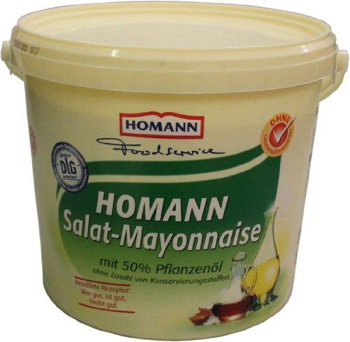Homann Salat-Mayonnaise 50{804465304678b3f865e9e853ec9ff541c1d2729e51407d8e8bfde6ceccb2ce66} 5kg