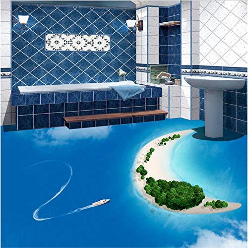 Papel pintado personalizado personalizado isla tridimensional sala de estar 3d baldosas pintura decoración 350x245cm