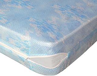 Lovely Casa RM14825001 Sieste - Protector de colchón (poliéster, Estampado, 90 x 190 cm), Color Blanco