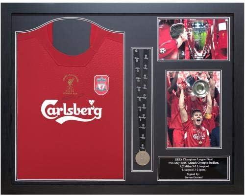 Liverpool FC Gerrard Istanbul - Camiseta oficial (enmarcada ...
