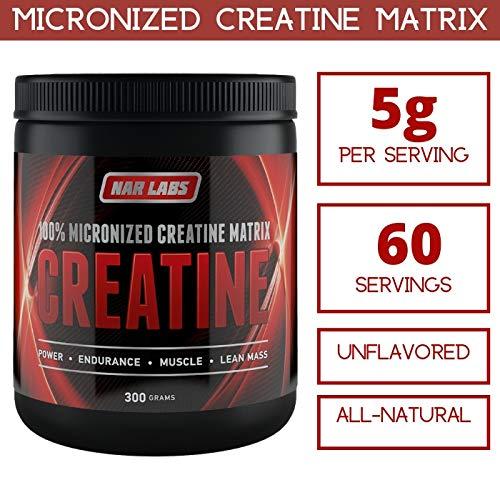 NAR LABS Creatine Matrix, 300 Grams   Natural   Non-GMO   Gluten Free   60 Servings