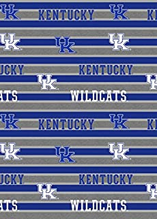 UNIVERSITY OF KENTUCKY COTTON FABRIC-KENTUCKY WILDCATS POLO STRIPE COTTON FABRIC-NEWEST DESIGN-SOLD BY THE YARD