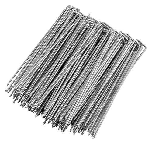 GardenMate 50 Erdanker VERZINKT aus Stahldraht 250mm lang, 25mm breit, Ø 4,1mm, Flacher Kopf - Für extrem Harte Böden