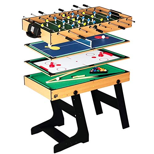 Fantastic Deal! SYF Desktop Football 4 In 1 Luxury Top Game Table | Multi-functional Stable Combinat...