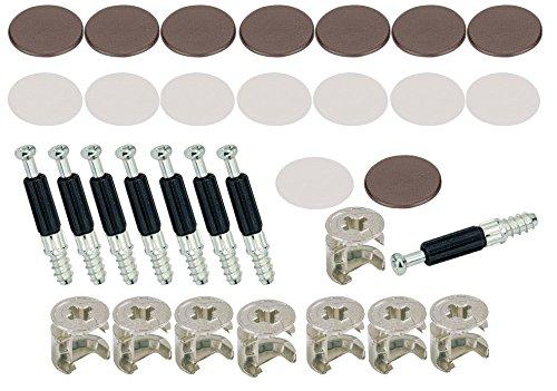 Secotec 105030041 Schrankverbinder Exzenter 15 mm Kunsstoff braun/weiß 8 Stück
