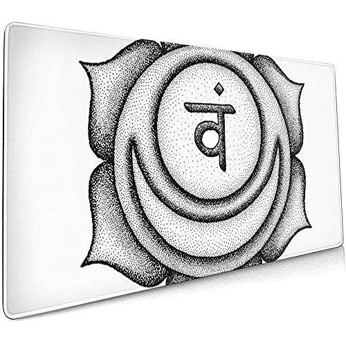 Weled Computer Keyboard Gaming Mouse Pad - Zweite Svadhishthana Sakral Chakra Sanskrit Samen Mantra Vam Silbe