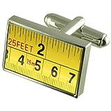 Builder Flessometro gemelli Crystal Tie Bar Clip Box Set incisi