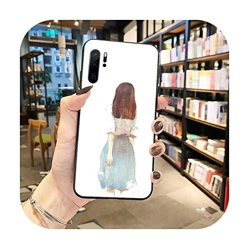 Linda chica belleza de nuevo hermoso teléfono caso Para Huawei Honor Mate P 9 10 20 30 40 Pro 10i 7 8 a x Lite nova 5t-a12-huawei mate 20 lite