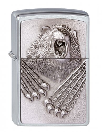 Zippo Zippo 2.003.073 Feuerzeuge Roaring Beast Emblem - Collection 2013 - Street Chrom Edelstahl